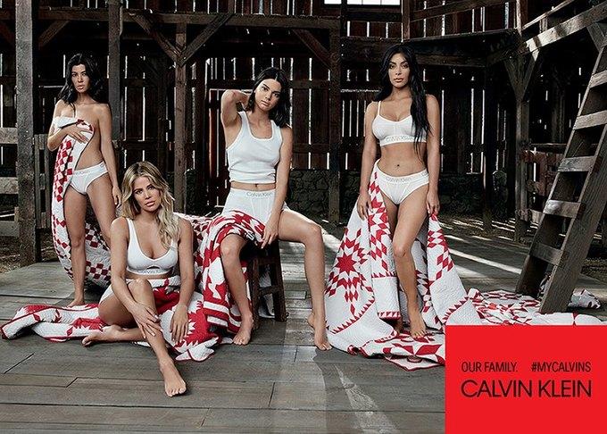 Сёстры Кардашьян-Дженнер снялись для кампании Calvin Klein. Изображение № 6.