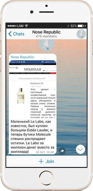 На кого подписаться: Телеграм-канал о парфюмерии Nose Republic. Изображение № 2.