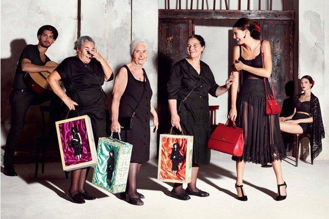 Бабушки и тореадор  в новой рекламе  Dolce & Gabbana. Изображение № 8.