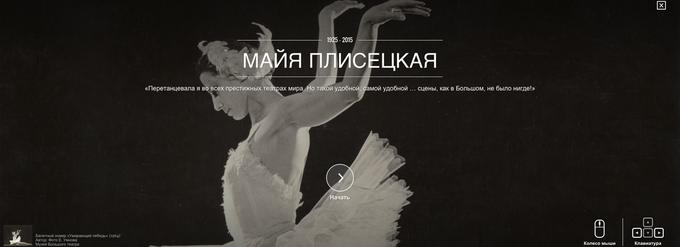 Google и Большой театр открыли онлайн-архив снимков Майи Плисецкой. Изображение № 1.