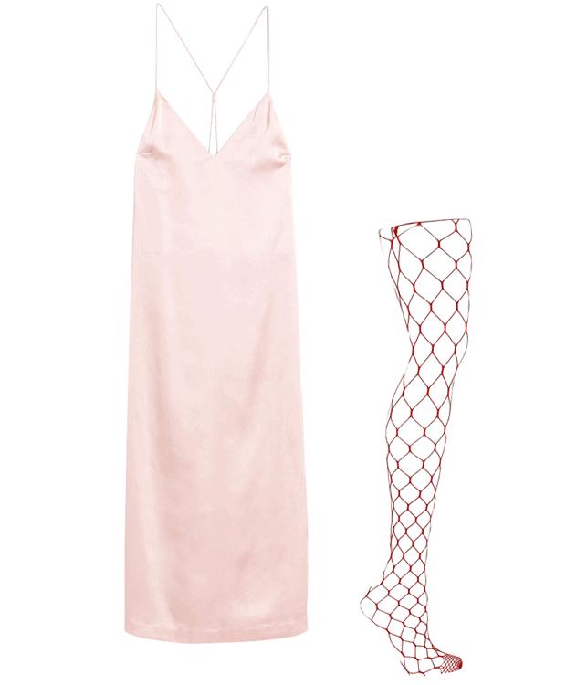 Комбо: Нарядное платье с колготками в сетку. Изображение № 2.