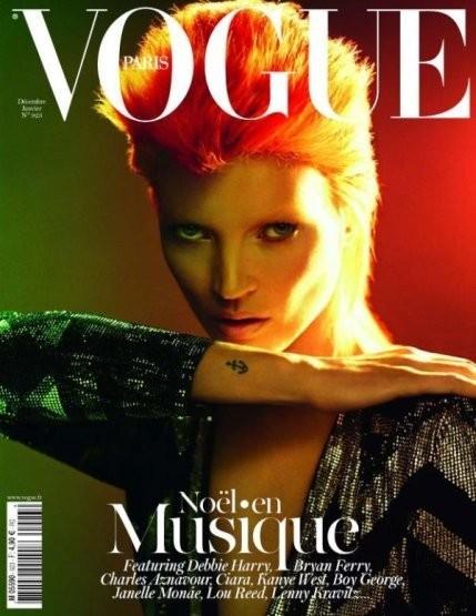 Кейт Мосс на обложке французского Vogue, декабрь/январь 2011-2012. Изображение № 21.