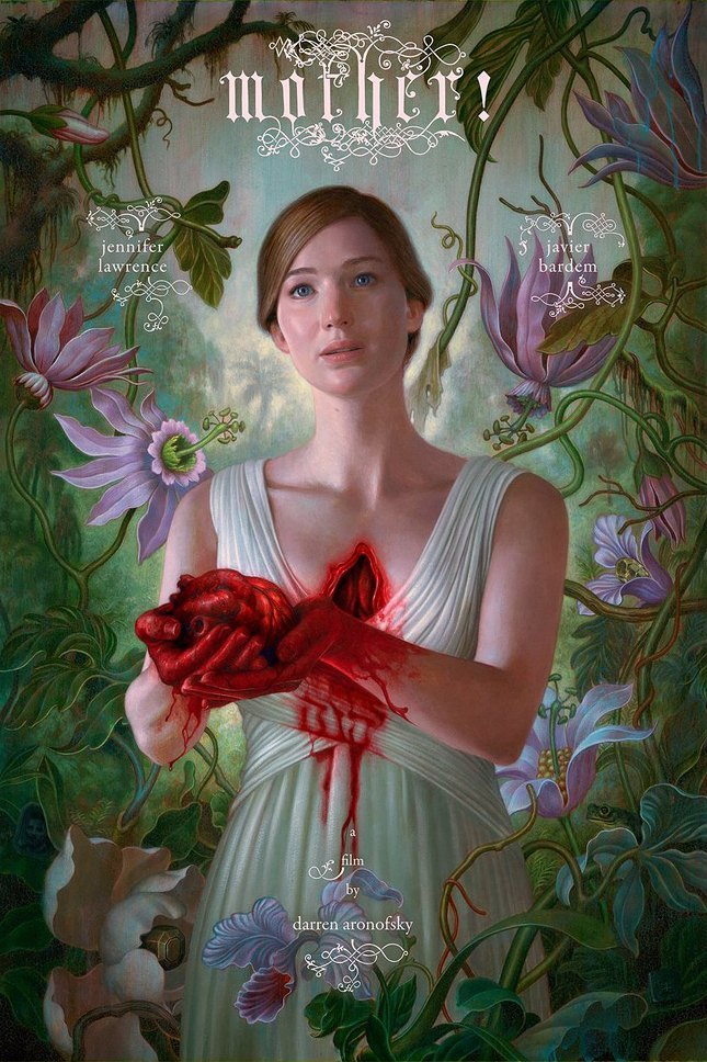 Опубликован пугающе живописный постер «Мамы» Аронофски. Изображение № 1.