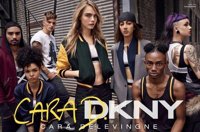 В рекламе CaraD4DKNY снялись Кара Делевинь и модели из Instagram. Изображение № 1.