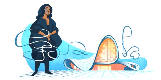 Сегодняшний Google-дудл посвящён Захе Хадид. Изображение № 1.