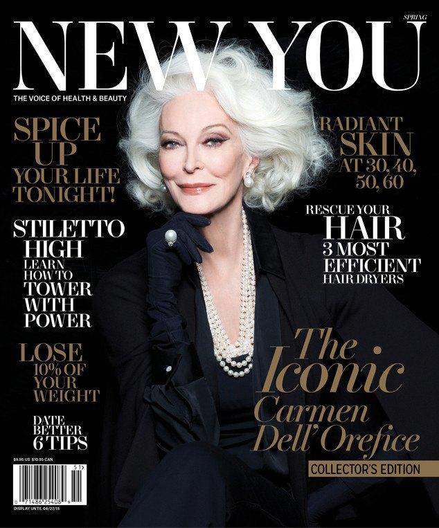 83-летняя модель Кармен Делль'Орефиче появилась на обложке New You. Изображение № 1.