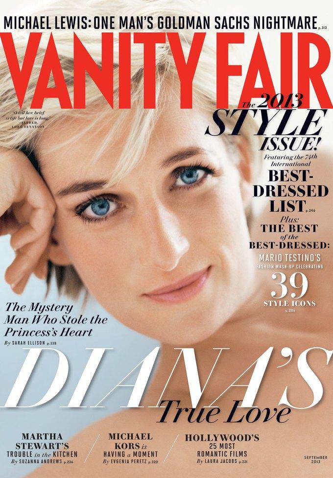 Vanity Fair поместил на обложку фотографию принцессы Дианы. Изображение № 1.
