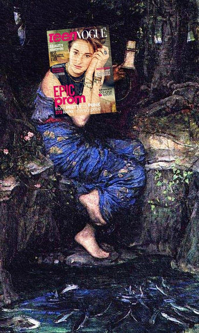 Mag + Art: Коллажи из глянца и живописи. Изображение № 12.