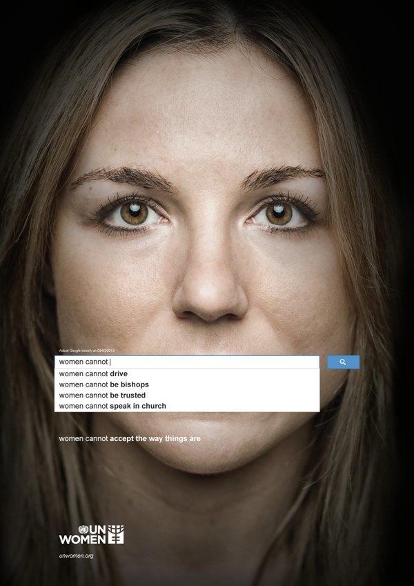 Сексистские запросы в Google стали основой социальной рекламы. Изображение № 3.