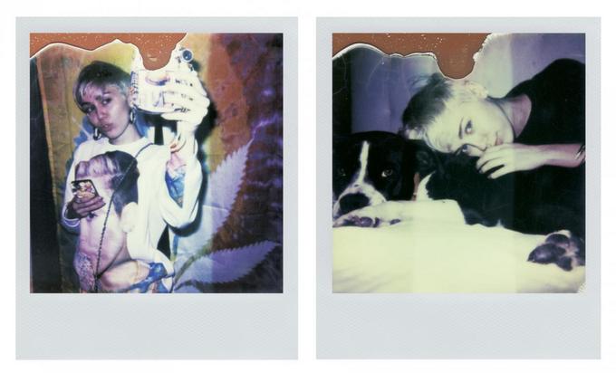 Майли Сайрус показала откровенные личные полароиды в V Magazine. Изображение № 2.