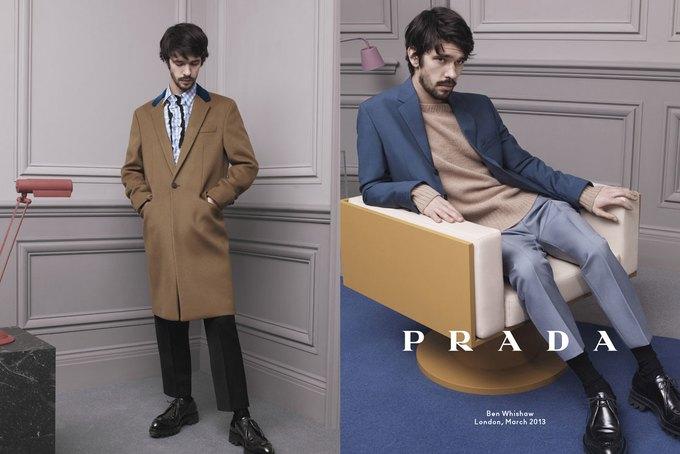 Кристоф Вальц и Бен Уишоу снялись для кампании Prada. Изображение № 1.