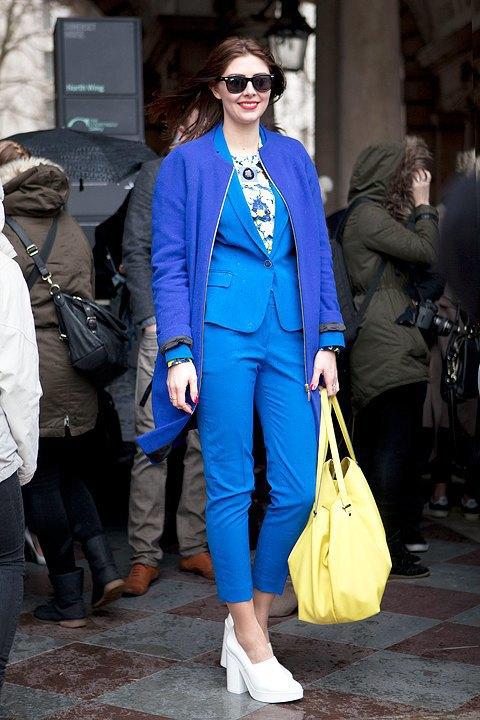Стритстайл:  Что носят гости London Fashion Week. Изображение № 9.