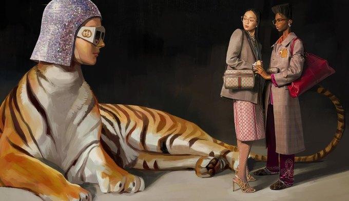 Новую кампанию Gucci нарисовал художник. Изображение № 9.