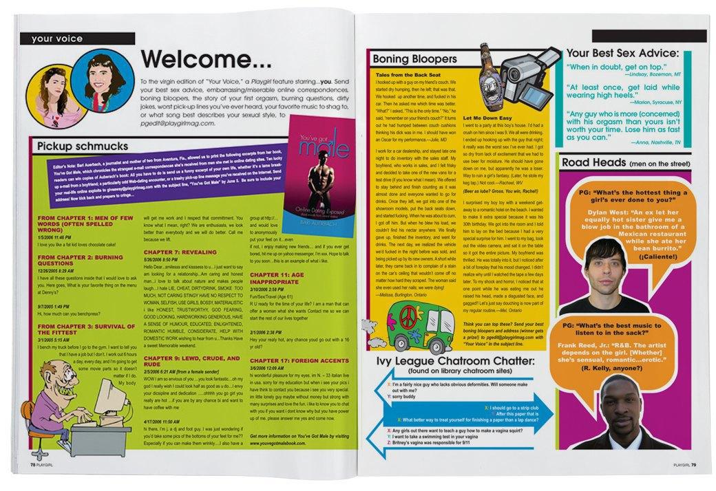 Разворот журнала Playgirl за 2007 год. Изображение № 18.