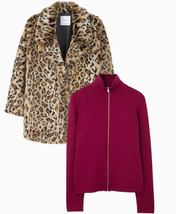 Комбо: Леопардовая шуба с трикотажным свитером. Изображение № 3.