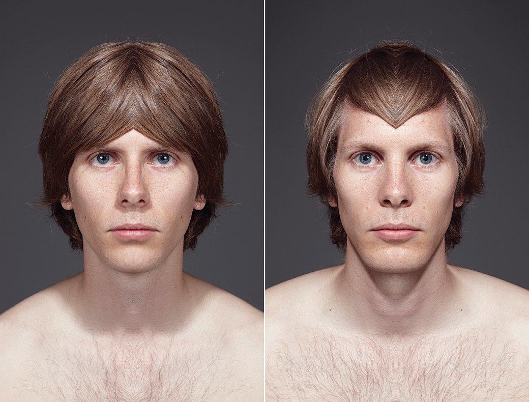 «Симметричные портреты»:  Два человека в одном. Изображение № 12.
