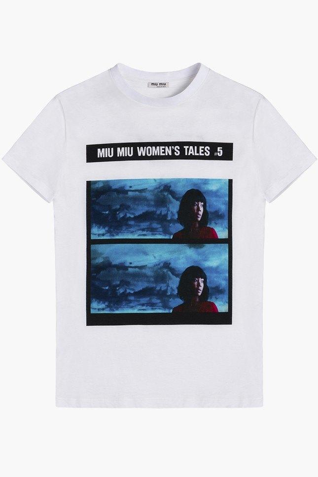 Miu Miu посвятили коллекцию футболок современным женщинам. Изображение № 1.