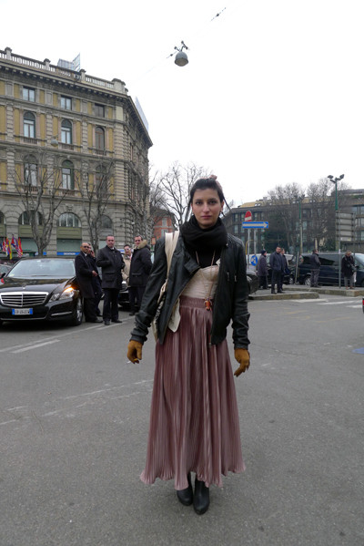Milan Fashion Week: день четвертый – луки. Изображение № 10.