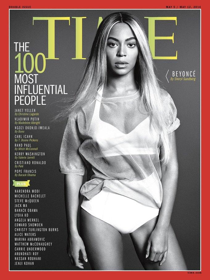 Бейонсе на обложке журнала TIME о 100 самых влиятельных людях года. Изображение № 1.