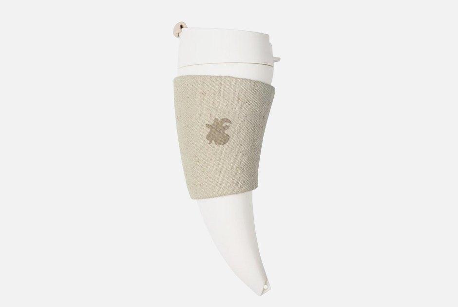 Пей до дна: Термос для кофе Goat Mug в форме рога. Изображение № 1.