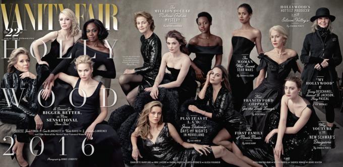 Vanity Fair вышел с женской «голливудской» обложкой. Изображение № 1.
