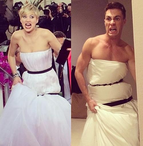 Платье Дженнифер Лоуренс с «Золотого глобуса» стало мемом. Изображение № 1.
