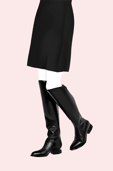 Как сочетать  длину юбок  с осенней обувью. Изображение № 5.