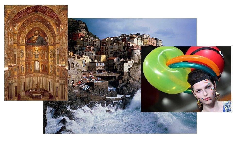 Мозаика кафедрального собора Монреале, Британская мода, Сицилия. Изображение № 4.