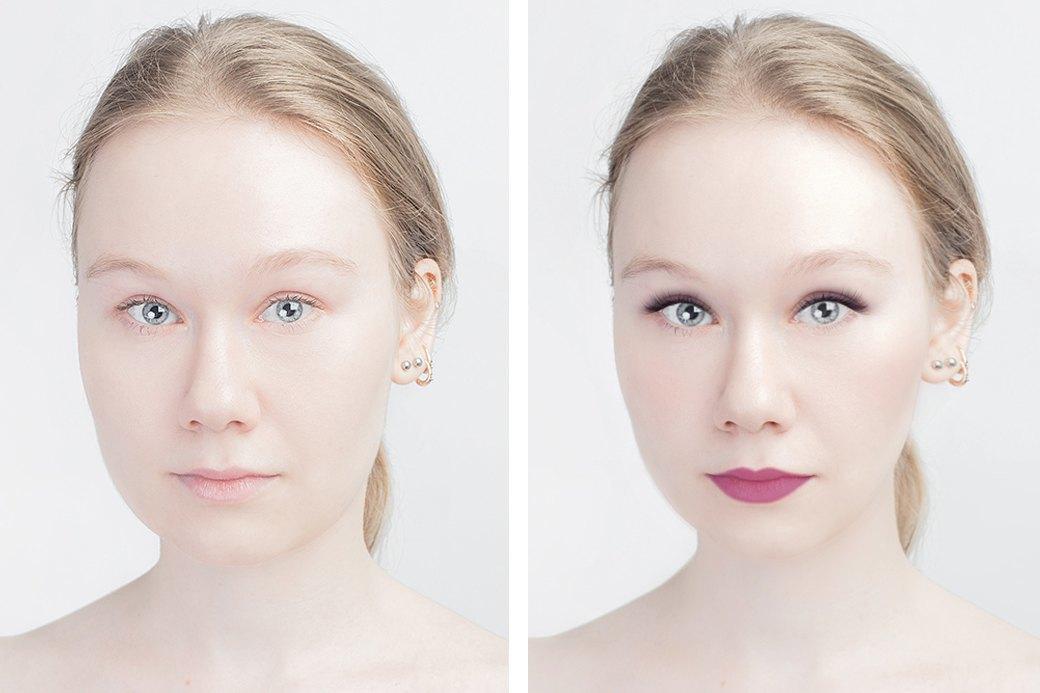 До и после макияжа:  Редакция тестирует  бьюти-приложения. Изображение № 4.