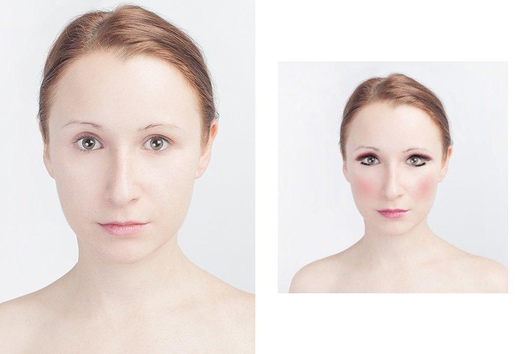 До и после макияжа:  Редакция тестирует  бьюти-приложения. Изображение № 28.