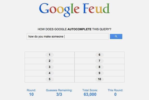 «Google Feud»: викторина  по популярным поисковым запросам. Изображение № 4.