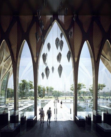 Заха Хадид спроектировала мемориальное здание  в Камбодже. Изображение № 5.