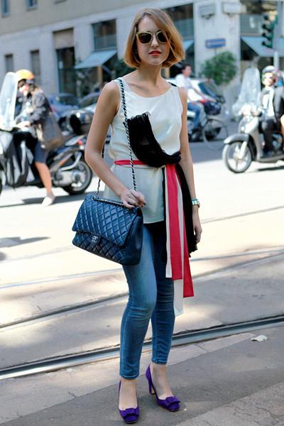 Milan Fashion Week: Уличный стиль, день 2. Изображение № 12.