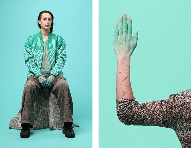 Дизайнер Камилла Кунц:  Мужская одежда, силикон  и мраморный принт. Изображение № 2.