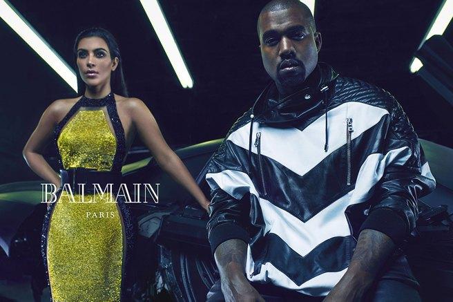 Страстные и роскошные: Ким и Канье украсили собой рекламу Balmain. Изображение № 3.