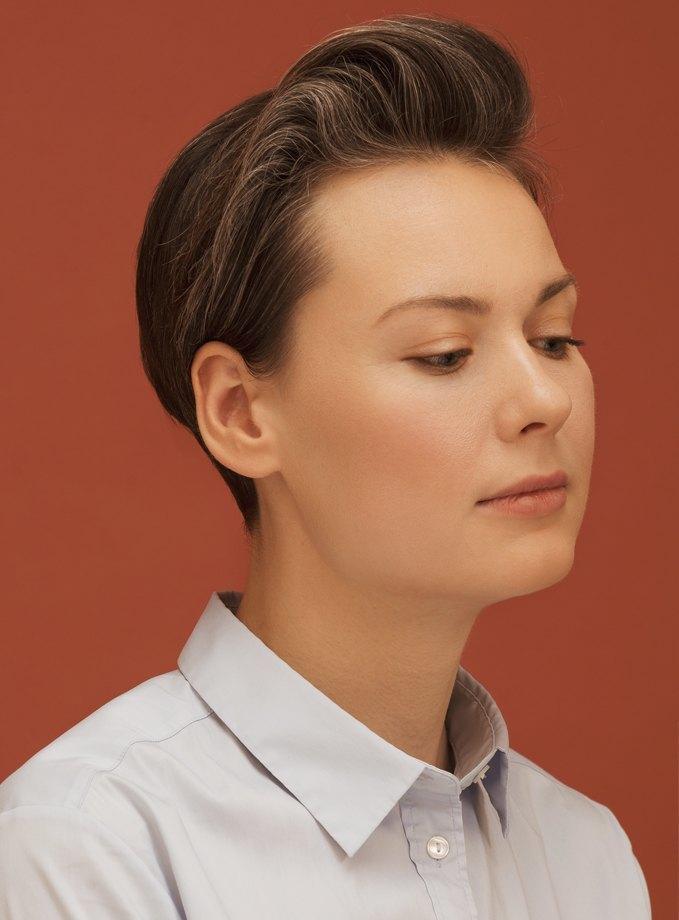 Окрашивание волос седые пряди