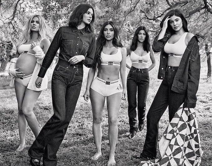 Вышла новая кампания Calvin Klein с сёстрами Кардашьян-Дженнер. Изображение № 1.