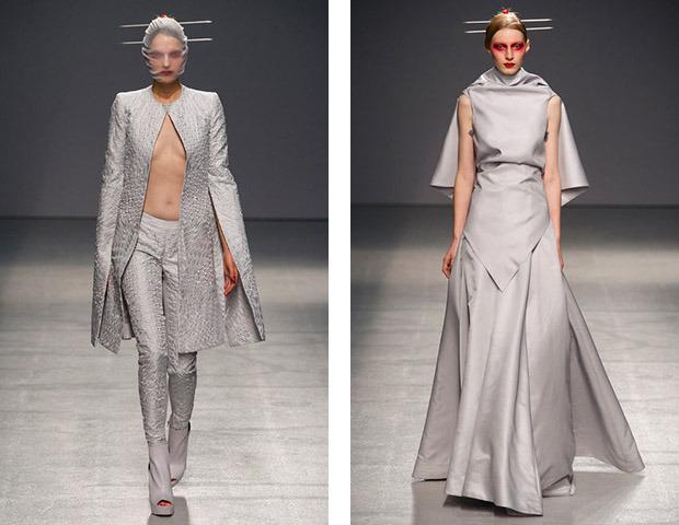 Бэкстейдж Gareth Pugh: Алые платья и «заплаканные» модели. Изображение № 43.