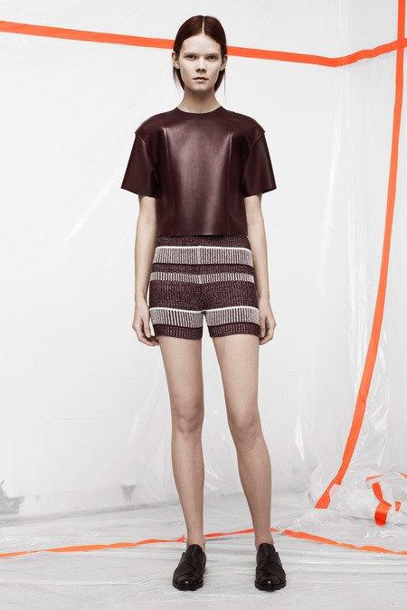 Кожаные толстовки и брюки в коллекции T by Alexander Wang. Изображение № 2.