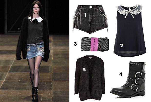 1. Шорты River Island; 2. Топ New Look; 3. Колготки Betsey Johnson; 4. Ботинки River Island; 5. Топ Miss Selfridges. Изображение № 5.