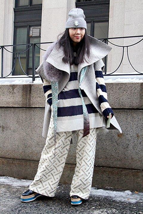 Стритстайл: Что носят на Нью-Йоркской неделе моды. Изображение № 24.
