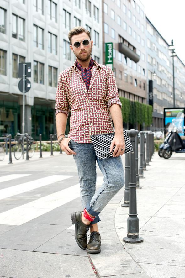 Стрит-стайл: Неделя мужской моды в Милане. Изображение № 31.