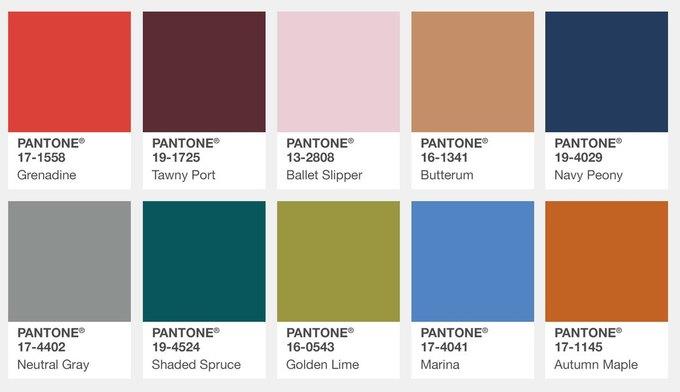 Pantone назвал главные цвета этой осени. Изображение № 1.