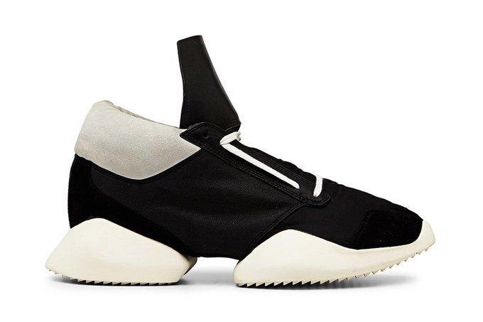 Кожаные и нейлоновые кроссовки Рика Оуэнса для adidas. Изображение № 5.