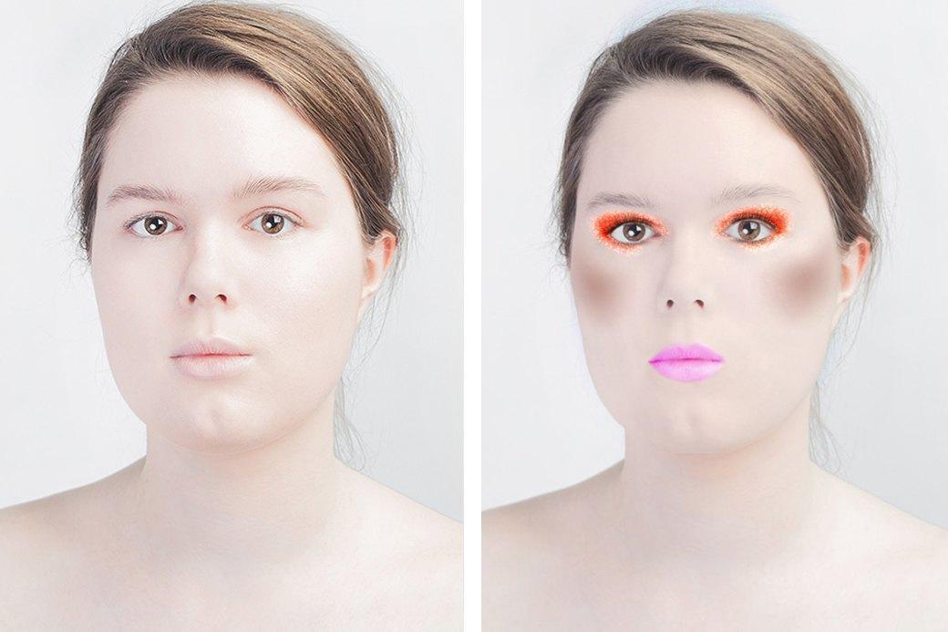 До и после макияжа:  Редакция тестирует  бьюти-приложения. Изображение № 3.