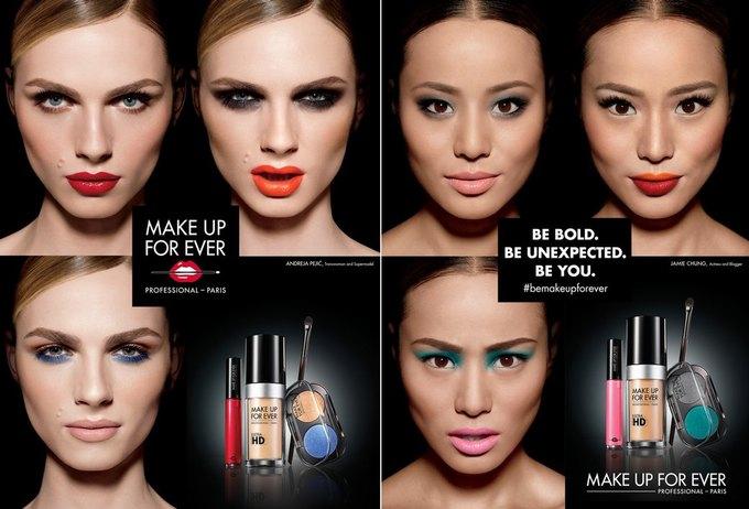Make Up For Ever показали рекламную кампанию с Андреей Пежич. Изображение № 1.