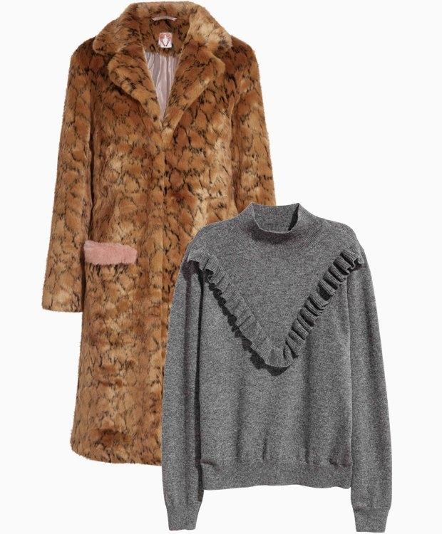 Комбо: Леопардовая шуба с трикотажным свитером. Изображение № 1.