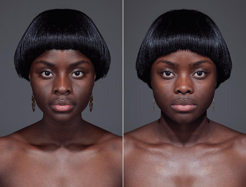 «Симметричные портреты»:  Два человека в одном. Изображение № 3.