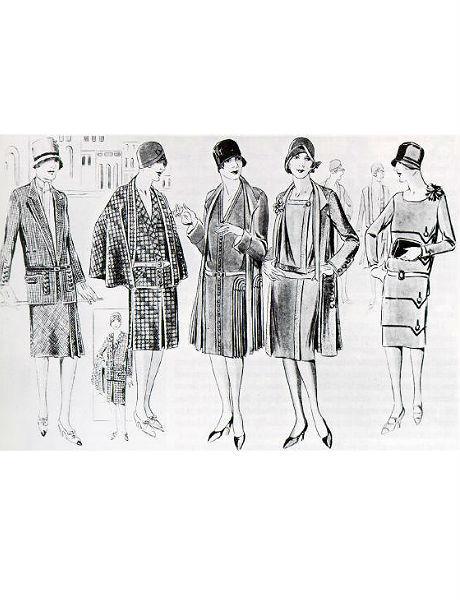 Рисунок из журнала мод, 1920-ые. Изображение № 8.