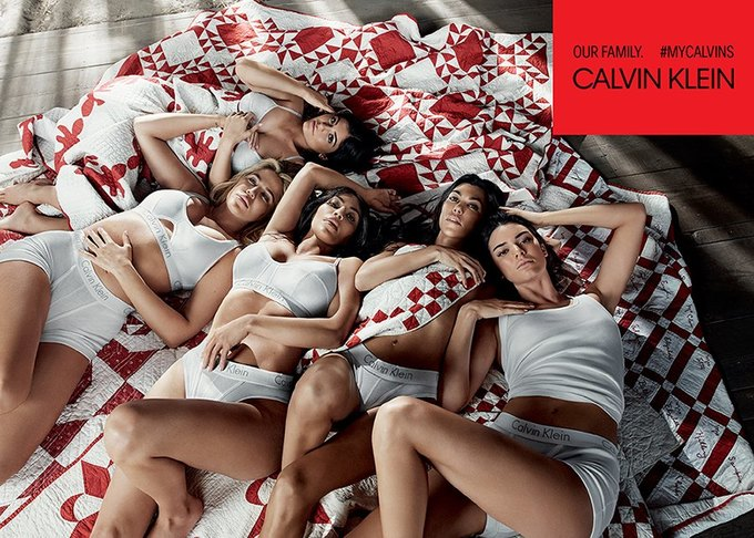 Сёстры Кардашьян-Дженнер снялись для кампании Calvin Klein. Изображение № 1.